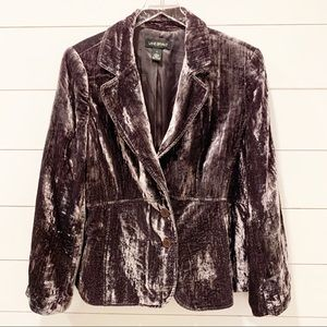 Lane Bryant Crushed Velvet Blazer Jacket S…
